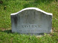 Louise the Unfortunate, Natchez City Cemetery, Natchez MS