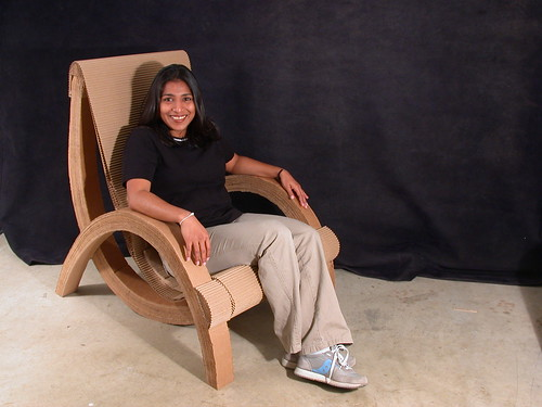 Cardboard chair from Flickr user BeastFace (Nick Michelin)