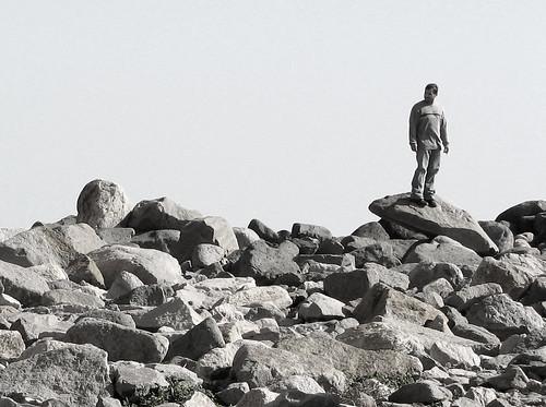 stranger on the rocks