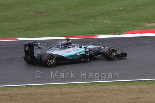 Lewis Hamilton in Free Practice 3 at the 2015 British Grand Prix