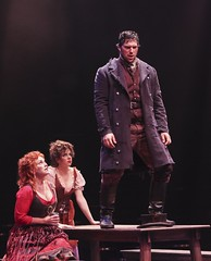 Aaron Serotsky, Jacquelyn Piro Donovan and Lisa Ferris in Oliver! at Music Circus July 19-24. Photo by Charr Crail.