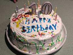 tenth birthday cake