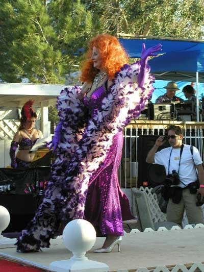 Tempest Storm performing in 2005 at Exotic World in the Mojave.