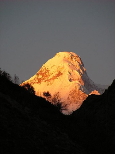 Nanda Devi East at Sunrise