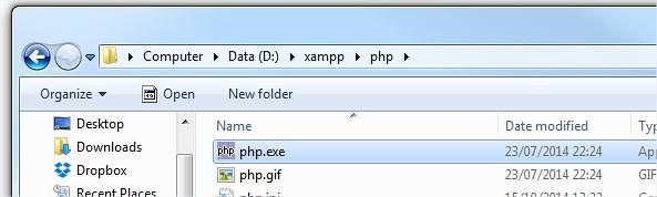 XAMPP PHP Folder