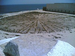Sundial and wind compass in Sagres