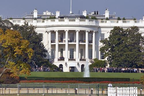 L'extérieur de la Maison Blanche