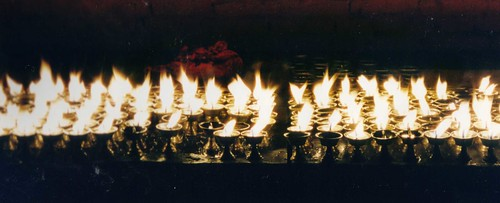 Buddhist Candles by oso
