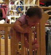 Anna escaped from her crib today