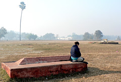 The Humans Meditate on the Tiger's Grave