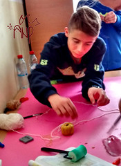 Boy Doing Handicrafts