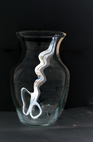 white scissors in vase