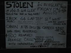 Stolen in Burglary