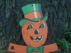 Vintage Pumpkin with Top Hat