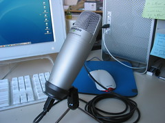 USB microphone setup