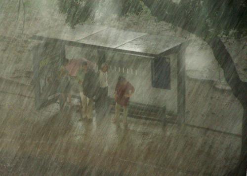 Em um dia de muita chuva, seria ótimo pode ir para o escritório mais tarde