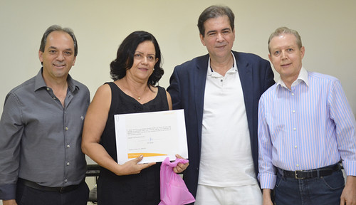 Luciano Araújo, Maria de Paula Dias, Mauro Oscar Lima e José Maria Facundes - Projeto Fios de Amor - Foto Emmanuel Franco