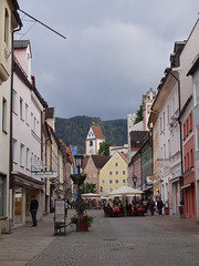 Saturday night on the main street in Fussen - once the Roman Via now Reichenstrasse
