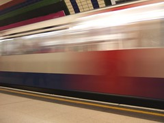 Speeding Tube train