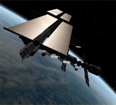 ISS Current Config - Reflective Solar Panels - Photo : FlyingSinger