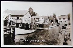 Leelanau Leland early Fishing Fleet in old Channel