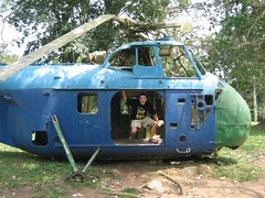 An old helicopter in Aburi botanical garden