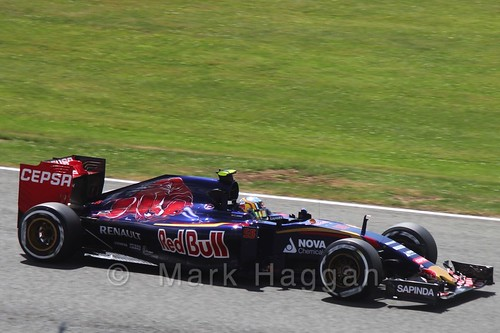 Carlos Sainz Jr in Qualifying for the 2015 British Grand Prix