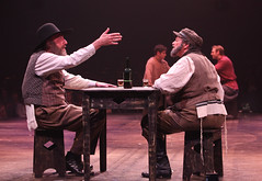 """Ron Wisniski and Bob Amaral as Lazar Wolf and Tevye in the Music Circus production of """"Fiddler on the Roof"""" at the Wells Fargo Pavilion Aug 14-19. Photo by Charr Crail."""