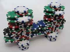 poker chip bridge