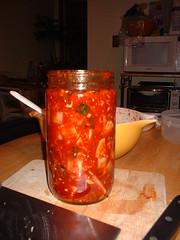 packed kimchi