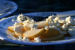 ricotta pear honey tastyness by grrrlie