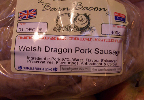 Welsh Dragon Sausages