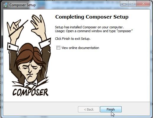 Completing Composer Setup