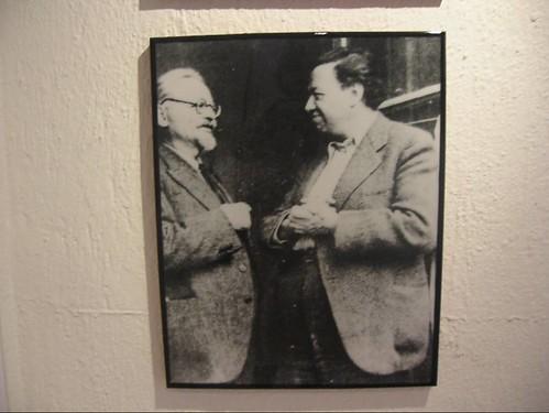 Casa museo Trotsky, Ciudad de México, Museum at Trotsky's home, Mexico City. Trotsky y Diego Rivera by hanneorla.