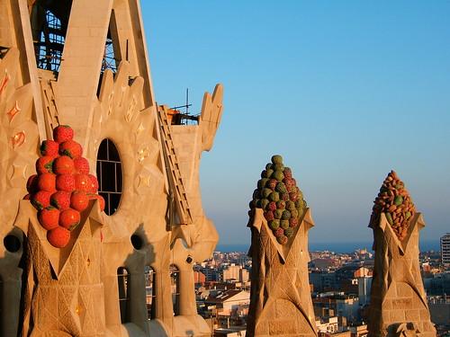 Fruity finials, Sagrada Familia