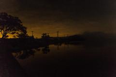 Yellow night sky