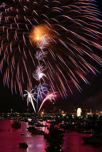 Red river fireworks
