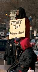 Phoney Tony Protestor