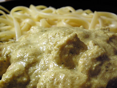 Chicken Curry with Linguine