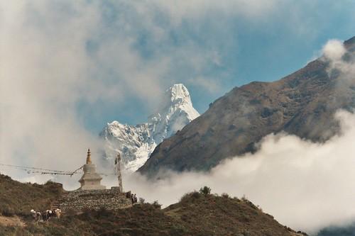 Wolken im Himalaya