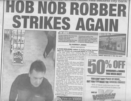 Hob nob robber strikes again