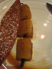 Vanilla-skewered roasted pineapple