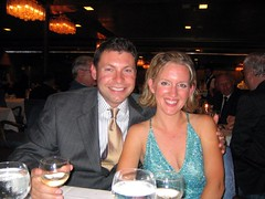 At a formal dinner on the Noordamon the Great 30th birthday trip
