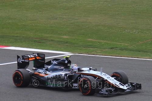 Sergio Perez in qualifying for the 2015 British Grand Prix at Silverstone