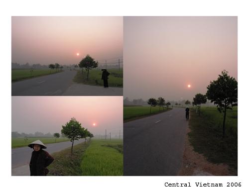 Sunrise at the paddyfields