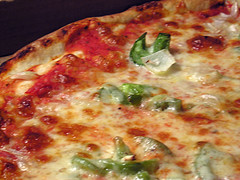 Cosmos Pizza with Peppers and Onions