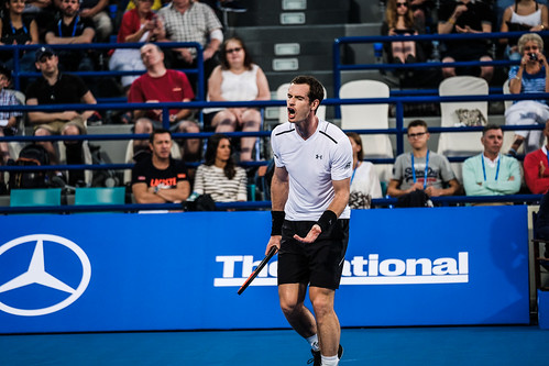 """Andy Murray's frustrations against David Goffin • <a style=""""font-size:0.8em;"""" href=""""http://www.flickr.com/photos/125636673@N08/31990098815/"""" target=""""_blank"""">View on Flickr</a>"""