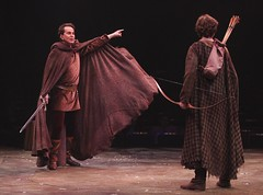 From left: Davis Gaines and Alex Greenlee in Camelot at Music Circus August 2-7. Photo by Charr Crail.