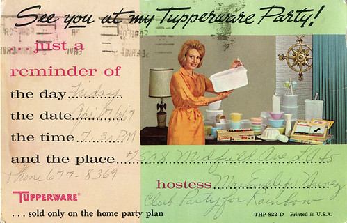 Tupperware party invitation