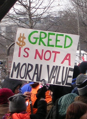 Greed Is Not A Moral Value